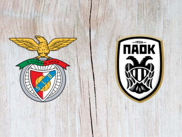 Benfica vs PAOK Thessaloniki FC Full Match & Highlights - 21 August 2018