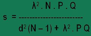 Menentukan Ukuran Sampel Pada Penelitian Kuantitatif menurut Isaac dan Michael