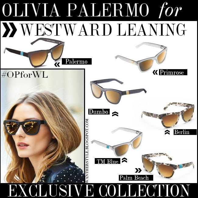 c76d63a499 sunglasses designed by Olivia Palermo for Westward Leaning shop the  collection opforwl