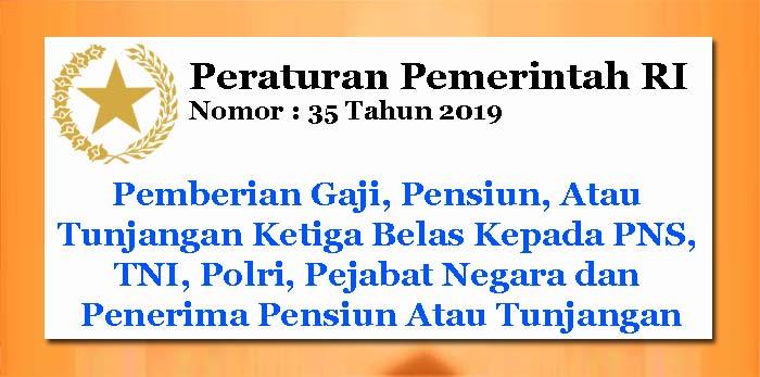 PP Nomor 35 Tahun 2019