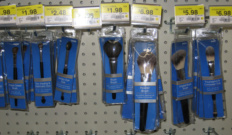 Makeup brushes at walmart