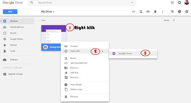 Cara Letak Borang Google Form Didalam Blog Entri