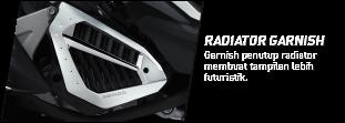Radiator Garnish : Garnish penutup radiator membuat tampilan lebih futuristik 2018 Anisa Naga Mas Motor Klaten Dealer Asli Resmi Astra Honda Motor Klaten Boyolali Solo Jogja Wonogiri Sragen Karanganyar Magelang Jawa Tengah.