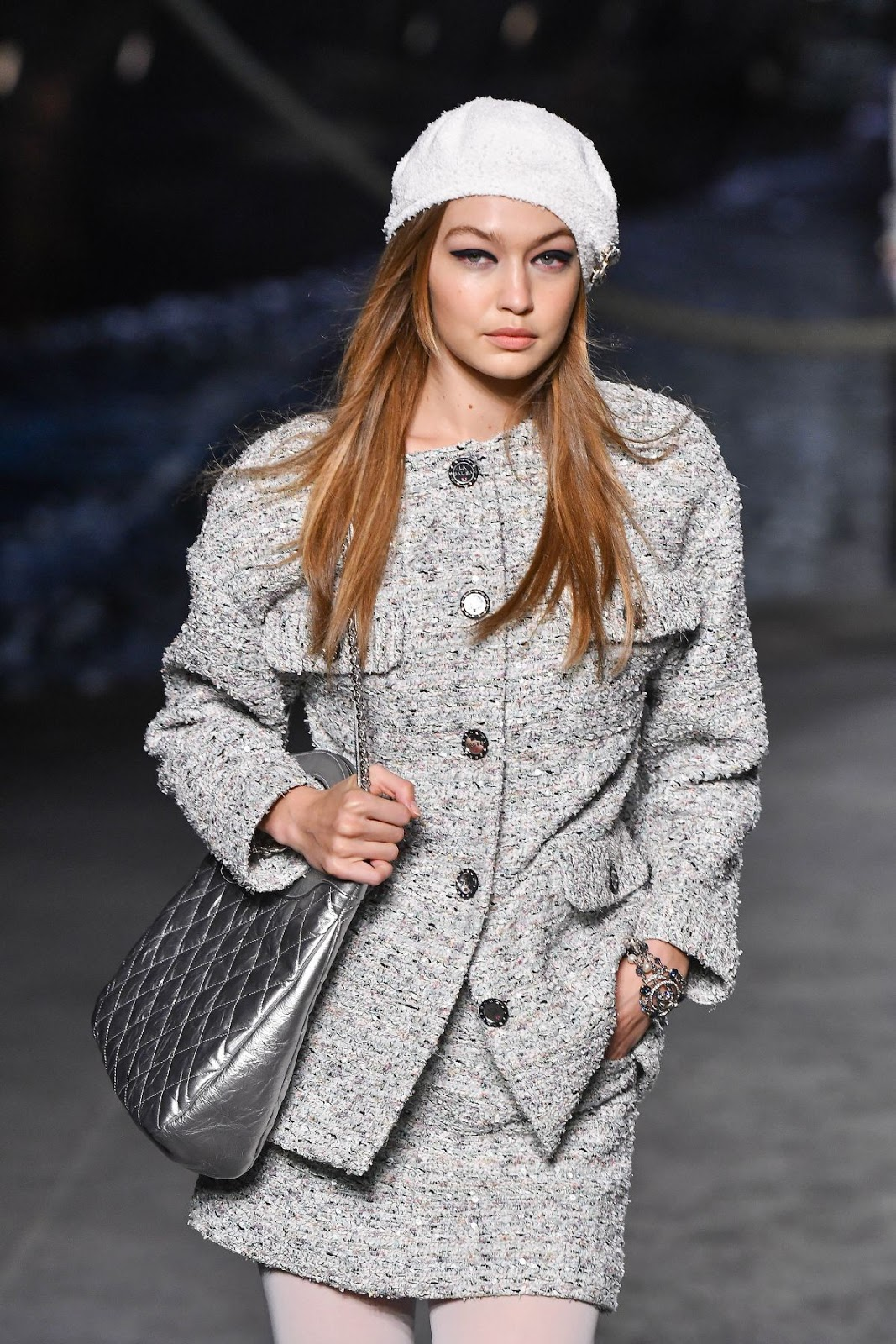 Gigi Hadid at Chanel Cruise 2018-2019 Collection Launch in Paris