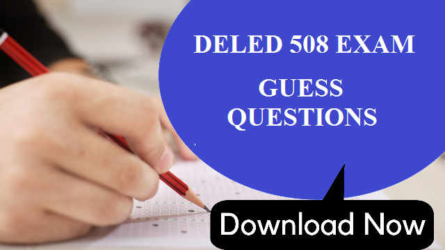 NIOS DELED 508 GUESS QUESTIONS