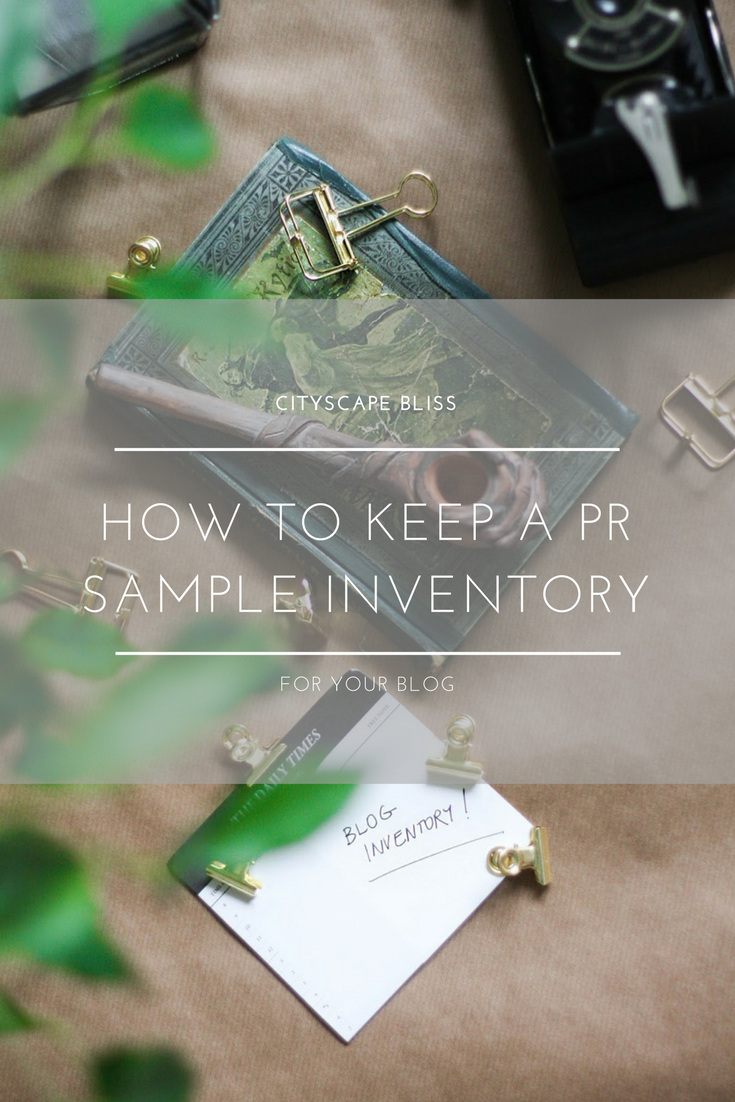 How to keep a PR sample inventory for your blog