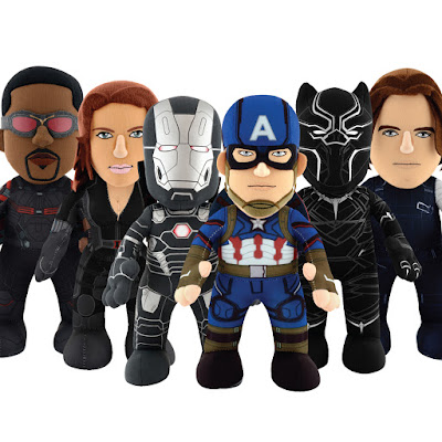 Captain America: Civil War Bleacher Creatures Plush Figure Series - The Falcon, Black Widow, War Machine, Captain America, Black Panther & Winter Solider