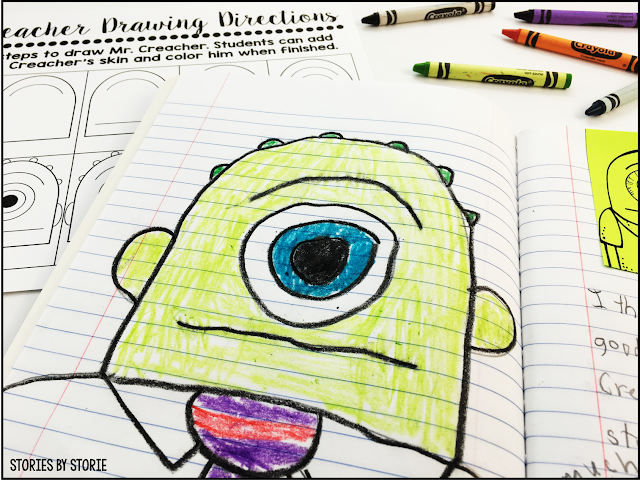 After reading Substitute Creacher, students can complete a directed drawing activity.