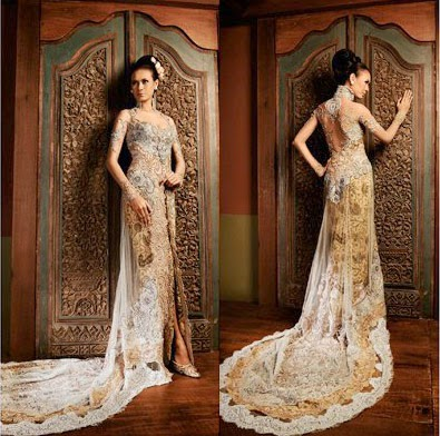 Simple Kebaya Wedding Dress