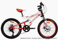 20 Inch Pacifc Viper Full Suspension Junior Mountain Bike White Red