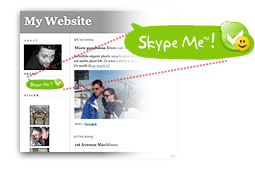 Membuat Skype Button Di Blog