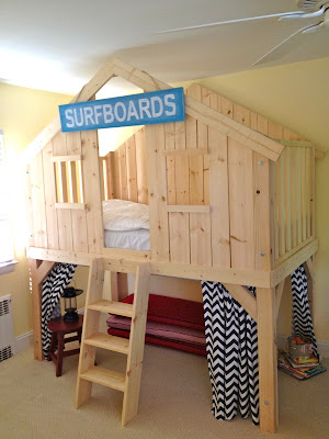 diy clubhouse kids loft bed