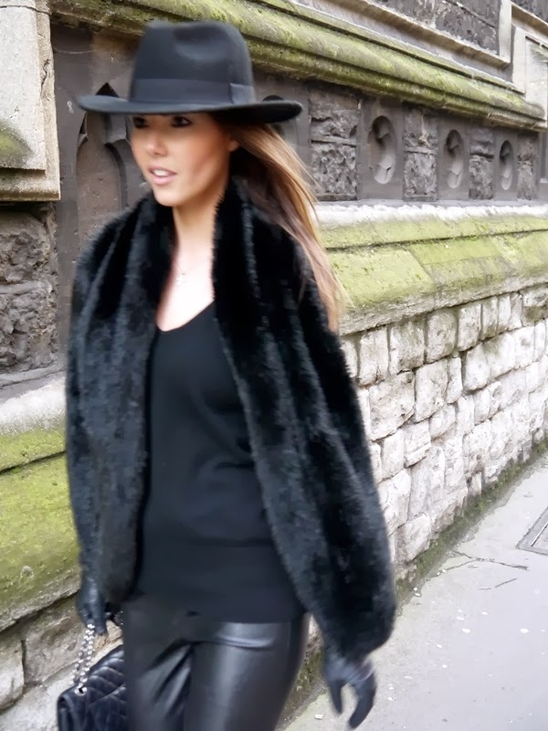 Fedora, Chanel Handbag, Leather Leggings, Mayfair