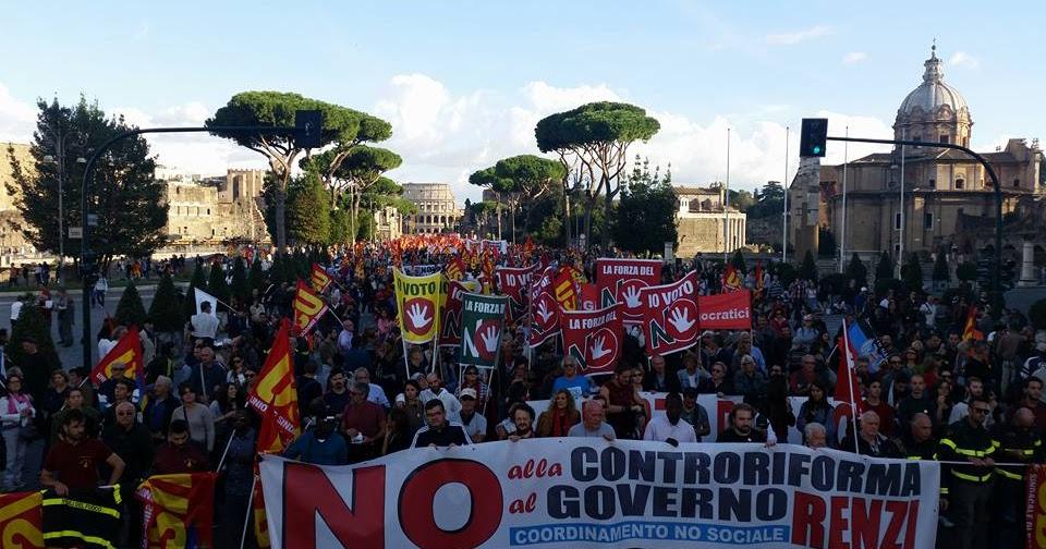 ROMA Migliaia al No Renzi Day. E ora?