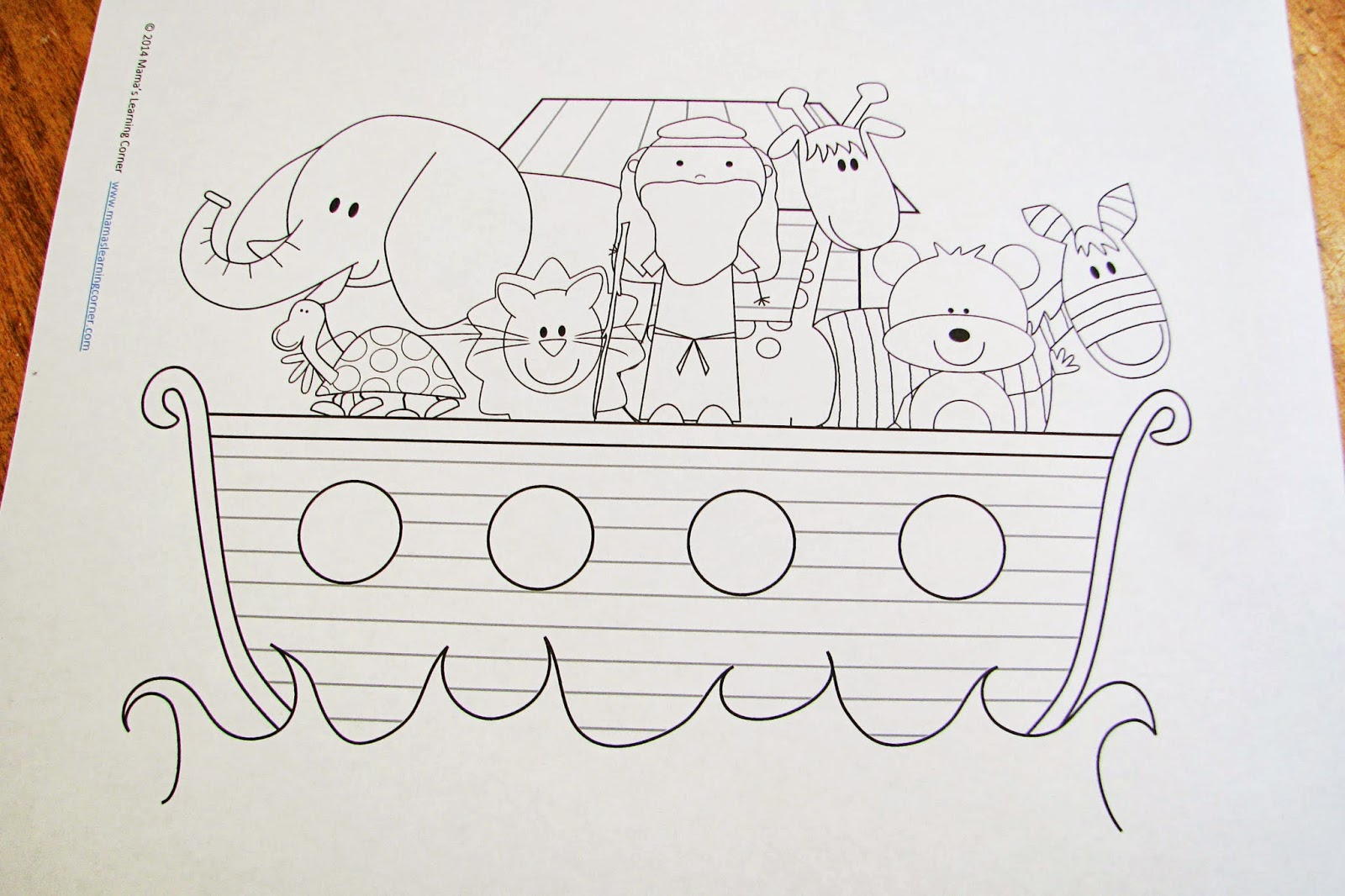 This is a picture of Priceless Noah's Ark Printable