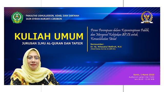 Angkat Peran Perempuan, Jurusan Ilmu Al-Qur'an dan Tafsir IAIN Cirebon Gelar Kuliah Umum