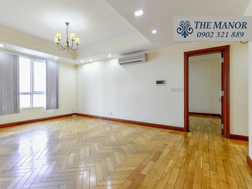 Bán căn hộ chung cư The Manor 1 Bình Thạnh 101m2 - tổng thể phòng khách trống nội thất