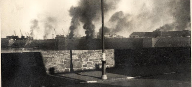 28 June 1940 worldwartwo.filminspector.com Guernsey Luftwaffe bombing St. Peter Port