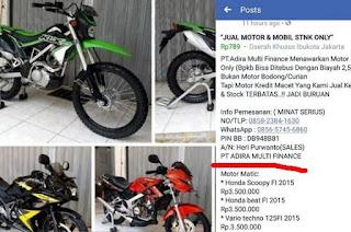 Membeli Sepeda Motor Melaui Media