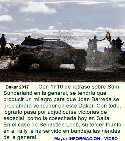 DAKAR 2017: Barrreda, en busca del prestigio y Loeb, de la general.