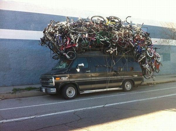 Kayak Roof Rack For Cars >> Svago, foto curiose e divertenti: Se hai bisogno di una bicicletta