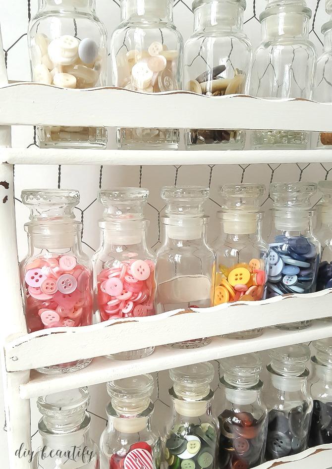 farmhouse button storage