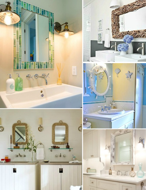 Coastal Nautical Bathroom Mirrors