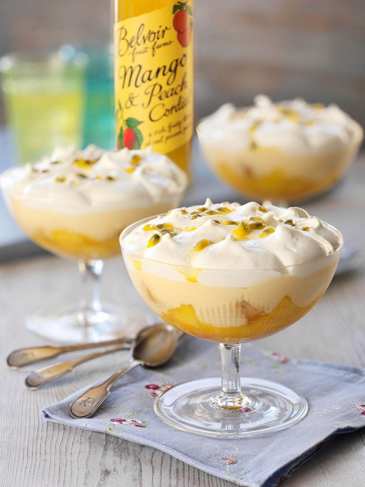 Mango Peach And Passion Fruit Trifles