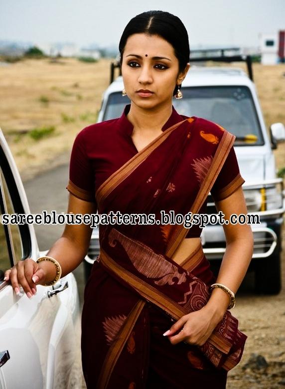 cdc225470c Trisha in Maroon Color Bengali Cotton Saree - Saree Blouse Patterns