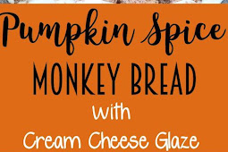 PUMPKIN SPICE MONKEY BREAD WITH CREAM CHEESE GLAZE