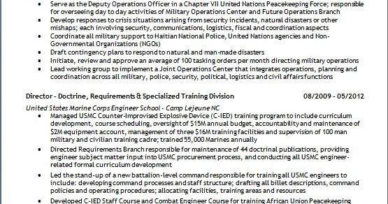 deputy operations officer resume format in word free download