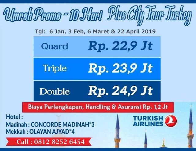 Umroh Promo 10 Hari Plus City Tour Turki