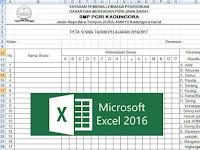 Contoh Format Peta Siswa di Kelas Format Excel Penunjang Bukti Fisik Akreditasi Sekolah
