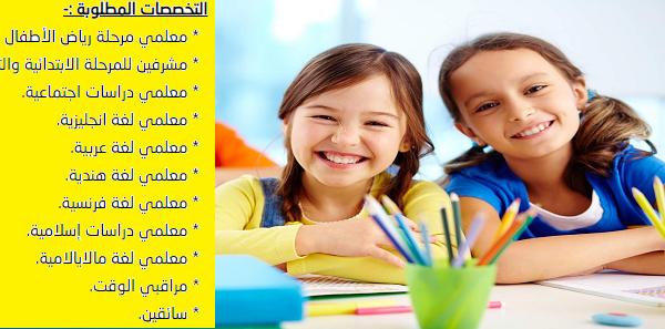 وظائف مدرسة دولية منهج هندي بالشارقة لمختلف التخصصات.