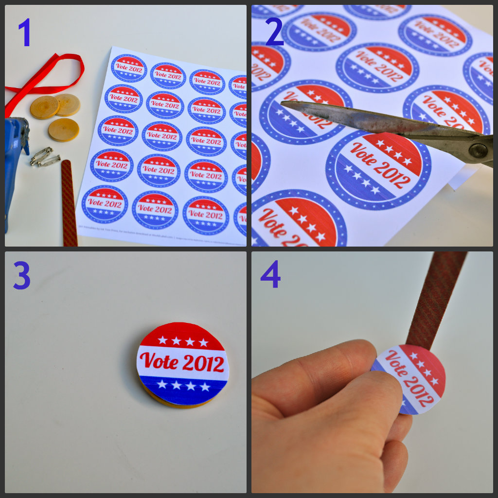 DIY Election Day Button - Make Life Lovely