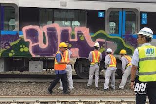 contoh graffiti yang bukan seni tetapi vandalisme