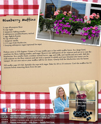 Author Mary Simses's Blueberry Muffins