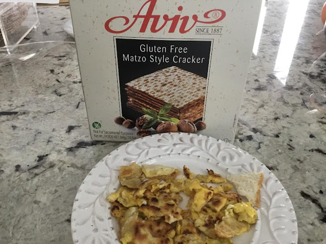 gluten free matzo and matzo brie recipe for Passover