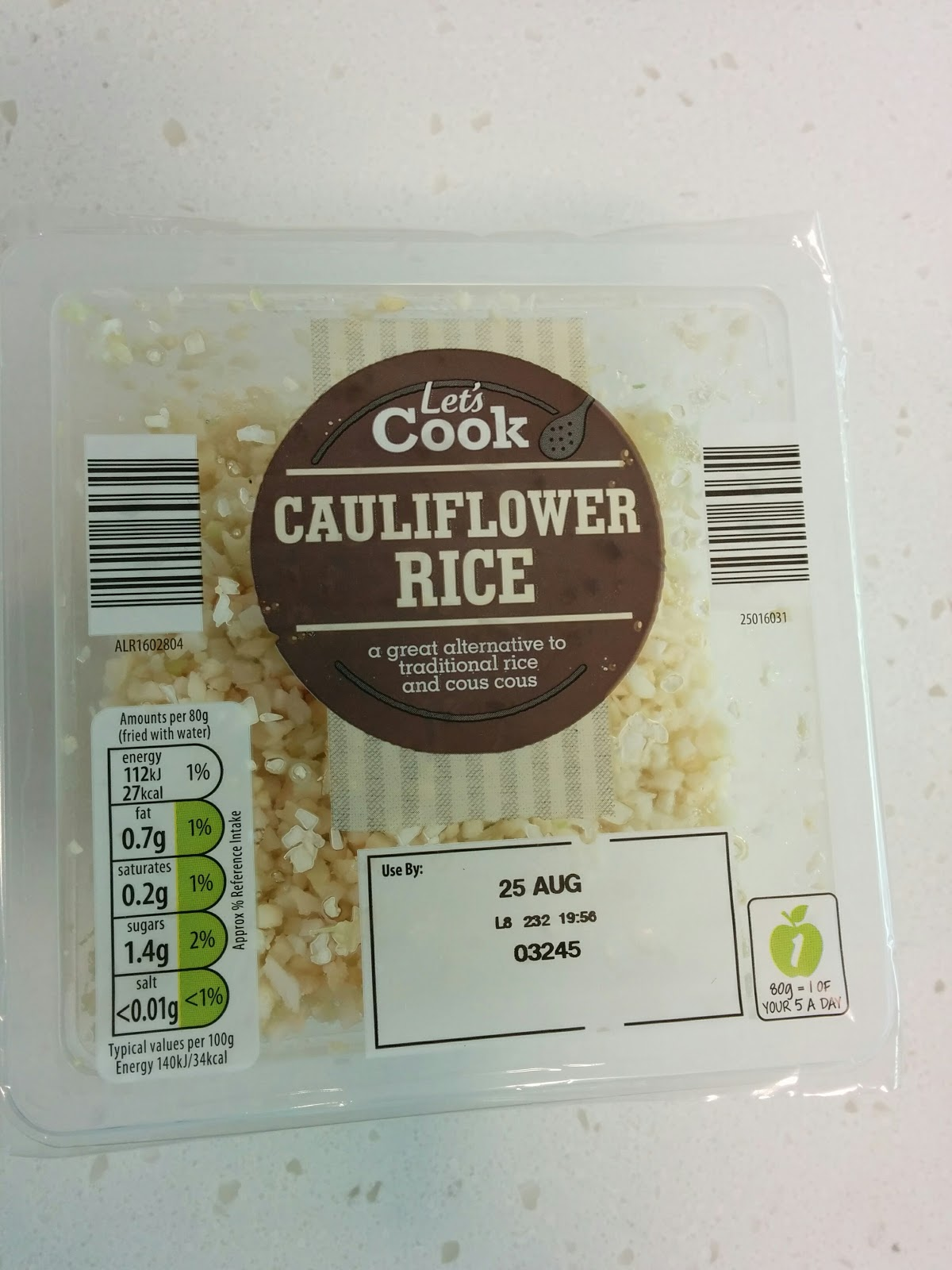 The Excited Eater: Aldi Cauliflower Rice Review