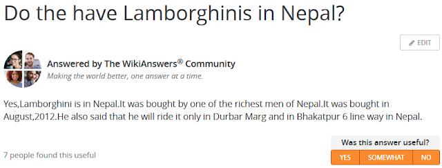 Do we have Lamborghini in Nepal?