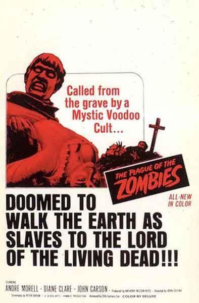 La plaga de los Zombies de John Gilling, poster original