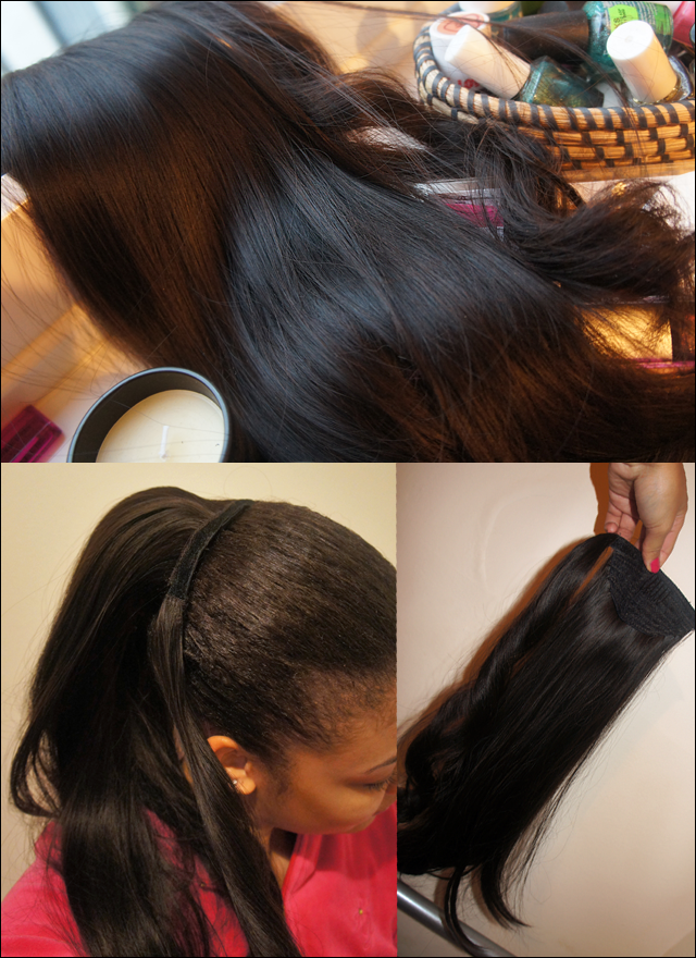 Foxy Hair Extensions Synthetic Wrap Around Ponytail Review on Natural Hair