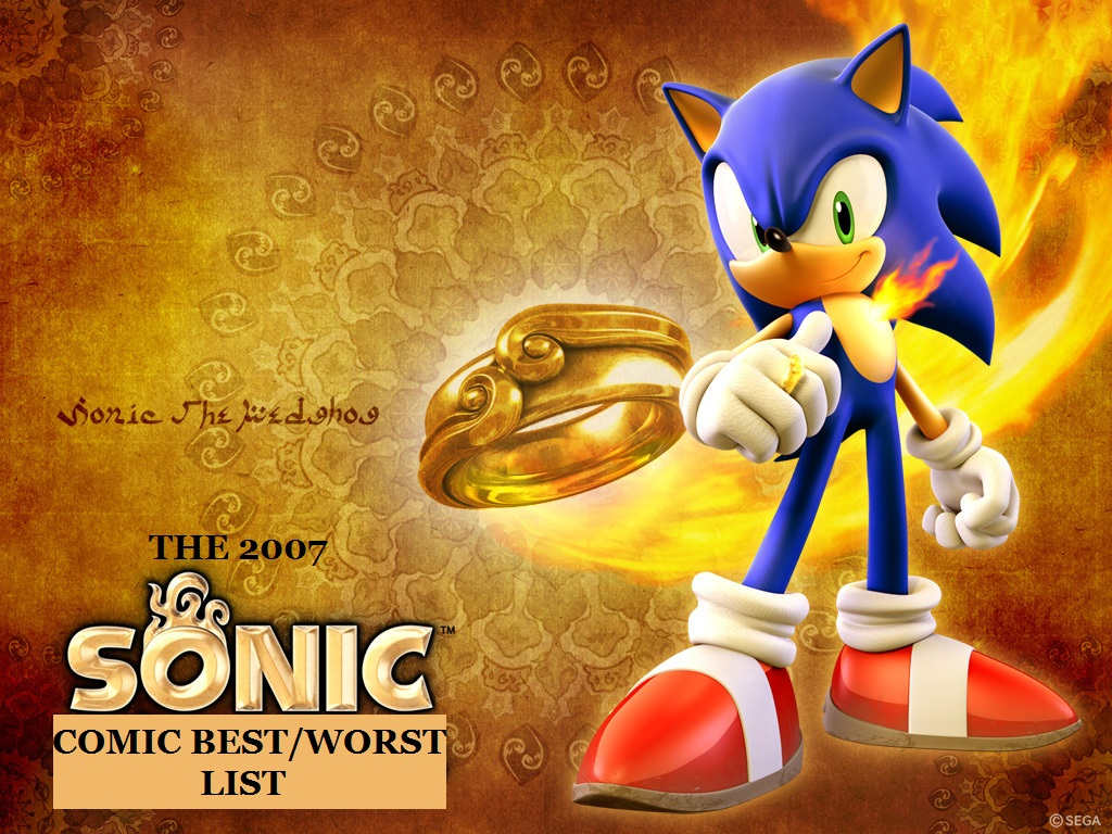 Hedgehogs Can T Swim The 2007 Sonic The Hedgehog Comic Best Worst List
