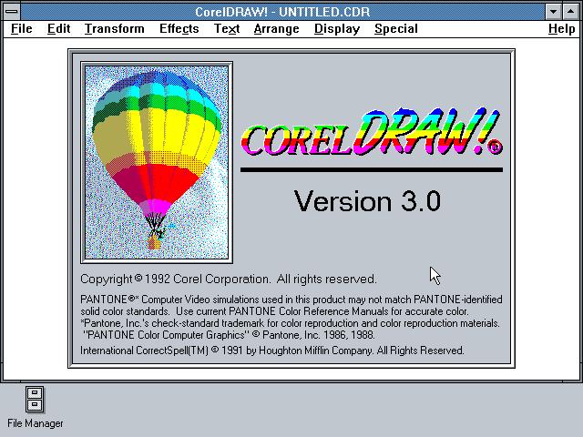 Sejarah CorelDRAW - CorelDRAW Versi 3.0 (1992)