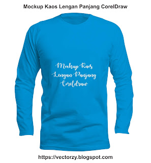 Download Mockup Kaos Lengan Panjang CDR CorelDraw