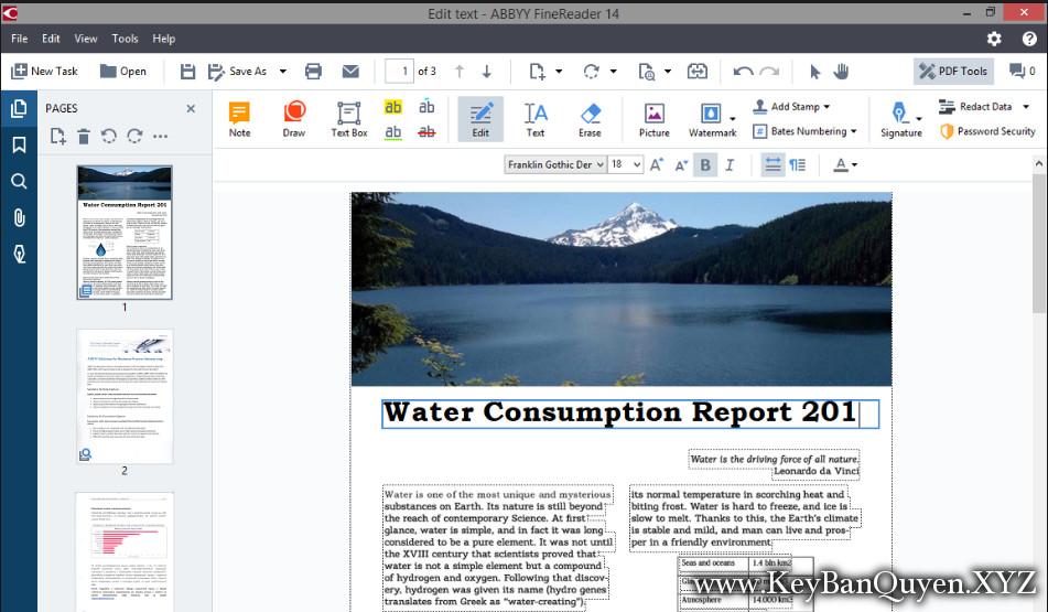 ABBYY FineReader 14 Final Full Key, Phần mềm xử lý và biên tập PDF và OCR