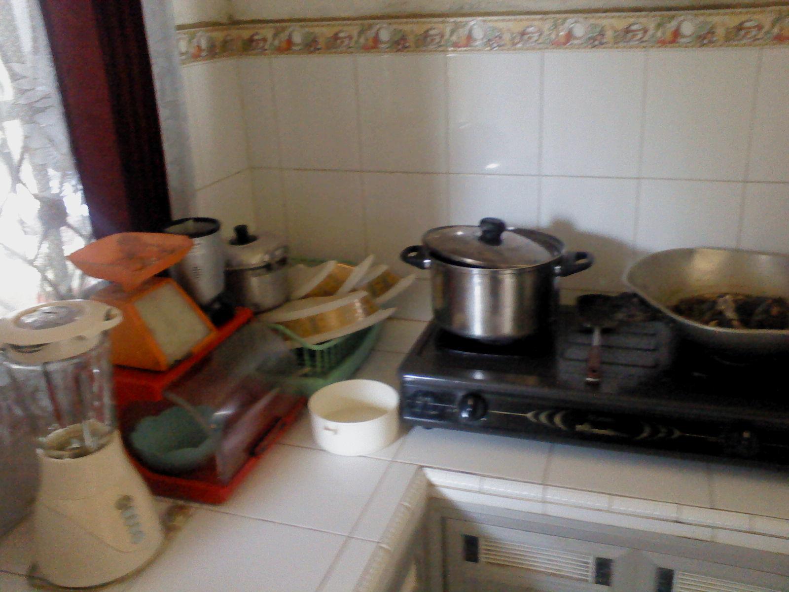 Dapur Yang Sempit Hanya Muat 2 Orang Pada Saat Memasak Namun Selalu Terjaga Kebersihannya Walaupun Tidak Higienis