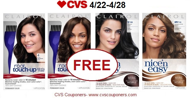 http://www.cvscouponers.com/2018/04/free-042-money-maker-for-clairol-nice-n.html