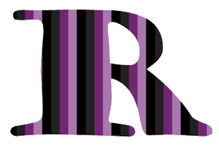 Abecedario con Rayas Horizontales Moradas. Alphabet with Purple Horizontal Stripes.