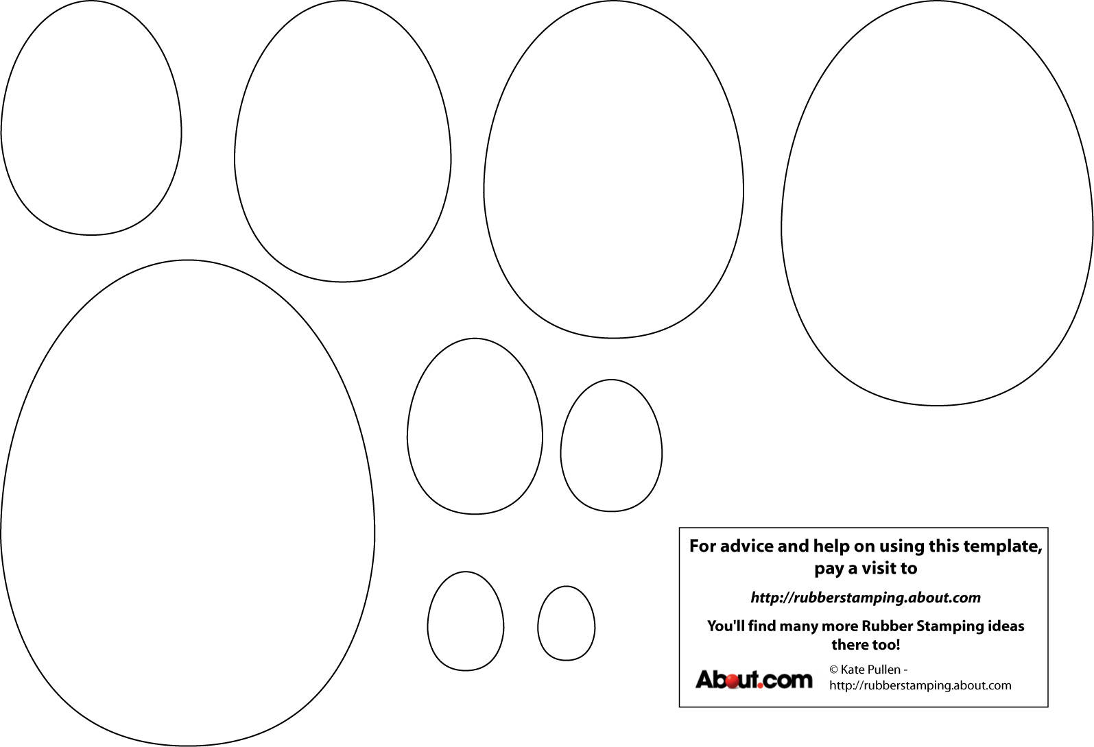 Early Play Templates Simple Easter Egg Templates